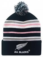 All Blacks Beanie with Pom Pom