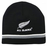 All Blacks Beanie with Stripe