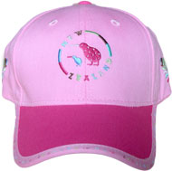 Girls Pink Kiwi Cap