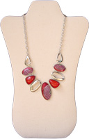 Pink and Red Modern Necklace