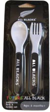 All Black plastic Spoon and Fork Set