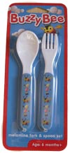 Buzzy Bee original Spoon and Fork Set