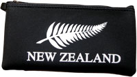 Black Pencil Case with white NZ fern