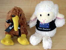 Finger puppets A Kiwi and a Sheep