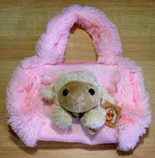 Pink Sheep Barrel Handbag