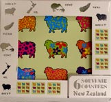 Colourful Sheep Coasters