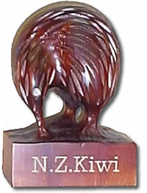 New Zealand Carved Wooden Kiwis