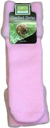 Plain Soft Pink Bed Socks