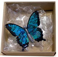 Paua Ulysses Butterfly Hanging Decoration