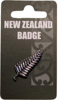 Small Silver Fern Badge