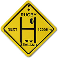 Plastic Rugby Street Sign