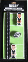 Rugby stationary set, including 2 x pencils and 3 x erasers and 1 x notepad