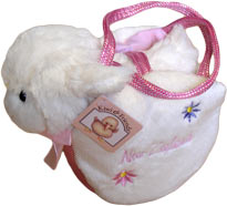 Soft Toy Sheep In A Bag