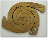 Triple Rimu Tablemat with inlaid Paua Shell New Zealand